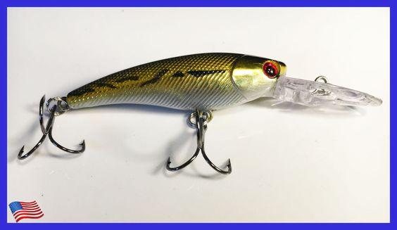 NEW Fishing Lure Hard Minnow Crankbait Hard Swimbait BASS CRAPPIE…