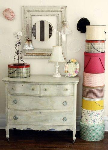 la torre de cajas   23 Fabulous Vintage Teen Girls Bedroom Ideas