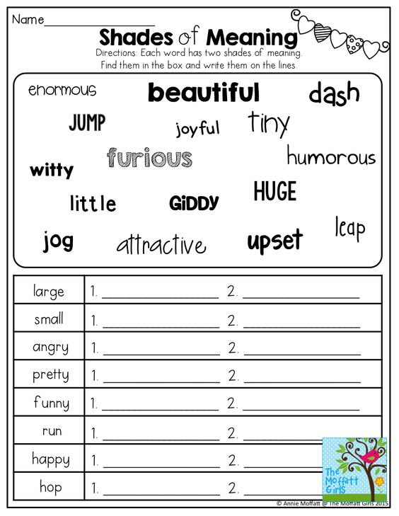 math worksheet : shades of meaning! tons of other great printables!  best of  : Multiple Meaning Words Worksheets 3rd Grade