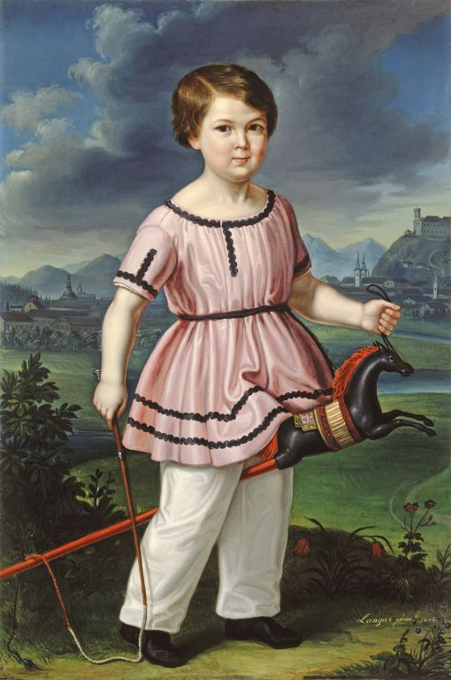 Matevž Langus - Karl Hummel Ju. 1848, oil on canvas, 109 x 73 cm bottom right: Langus pinx 1848