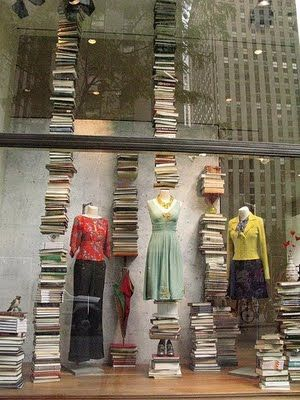 Cannot resist an Anthropologie window display....and the books just make it that much sweeter