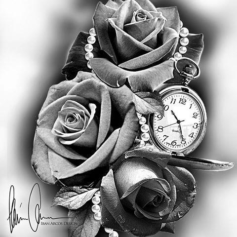 Resultado De Imagem Para Reloj De Bolsillo Dibujo Sleeve Tattoos Tattoo Designs Watch Tattoos