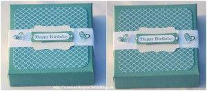 Quadratische Box mit dem Envelope Punch Board