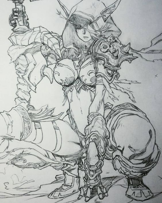 Sylvanas Windrunner - World of Warcraft - Secret Files. Pencil. /Character ©Blizzard Entertainment /Image ©L.Gerchel / Cre.O.N #sylvanas…