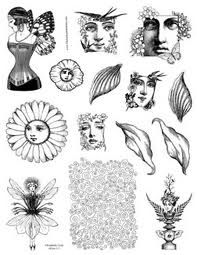 Fantasy Art Stamps - Unmounted Rubber Stamp Sheets Fairy, Mermaid
