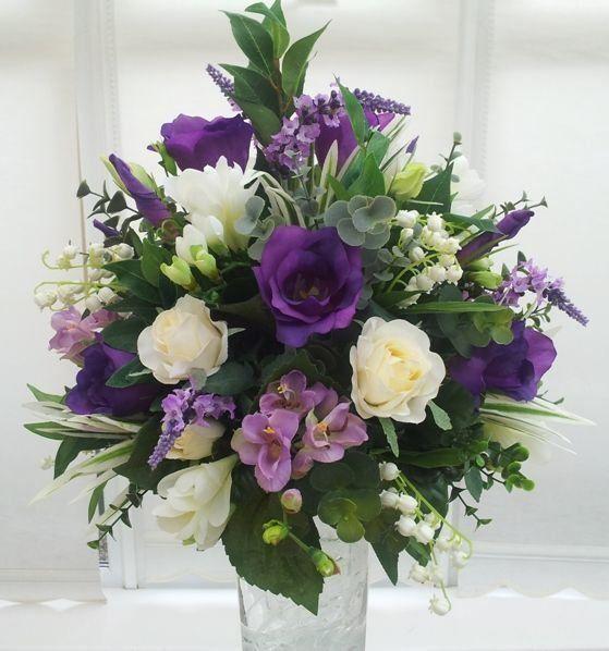 1004 In 2020 Artificial Flower Arrangements Purple Flower Arrangements Flower Arrangements Diy