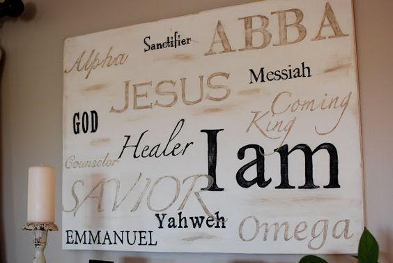 Names of God: Wall Art, God S, Living Rooms, Names Of God, Diy Gift, Jesus Art, Names Of Jesus