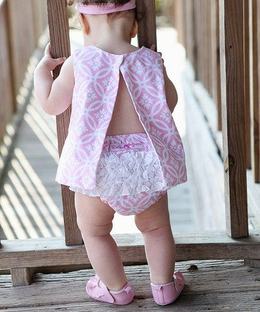 Tangier Pink Swing Top - Infant & Toddler by RuffleButts on #zulily