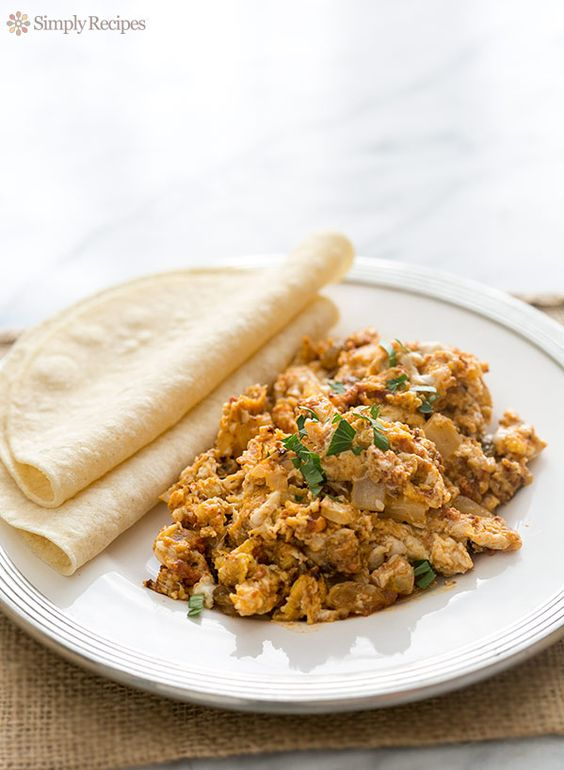 Chorizo and Eggs ~ My mother's excellent recipe for Mexican chorizo (spicy sausage) with scrambled eggs. ~ SimplyRecipes.com