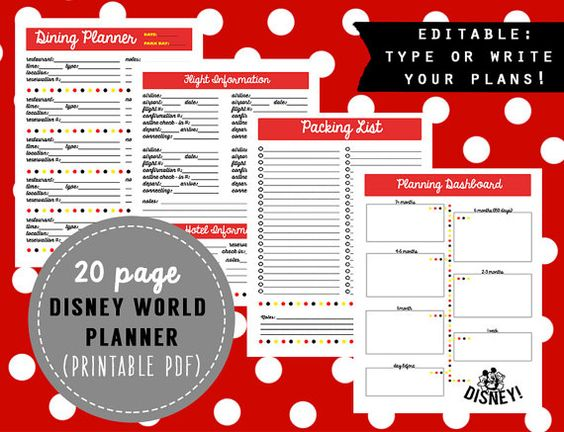 The only thing worse than under-planning a Disney vacation is over - vacation schedule template