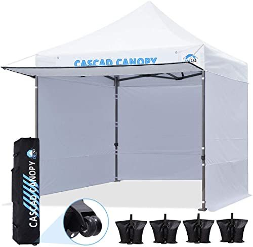 New Cascad Canopy 10 X10 Ez Pop Up Canopy Commercial Instant Tent Shelter Diy Banner Heavy Duty Roller Bag 4 Removable Sidewalls 1 Canopy Awning 4 Sandb In 2020 Instant Tent Canopy Privacy Partition