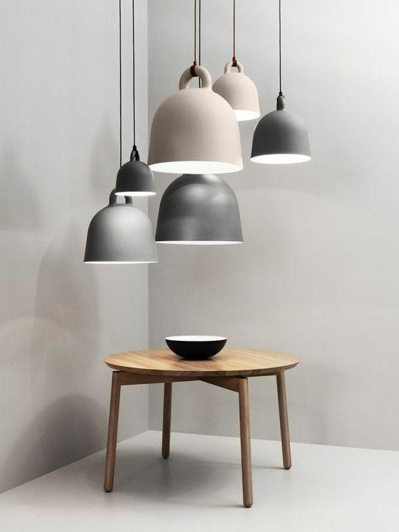 skandinavische lampen pendelleuchten couchtisch holz rund Normann Copenhagen
