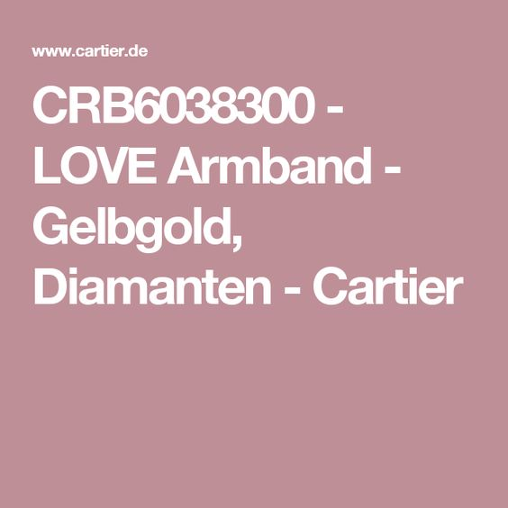 CRB6038300 - LOVE Armband - Gelbgold, Diamanten - Cartier