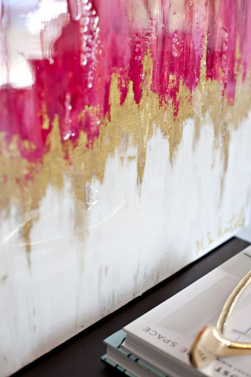paint with gold - inspiration by Artist Maurie Hartel
