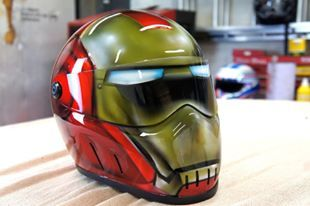 Blaze Artworks Custom Motorcycle Helmet 148