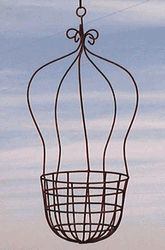 Wrought Iron Large Balloon Basket Flower Planter Metal Hanging Baskets Making a splash will be easy with the large Balloon Basket Hanging Planter. You
