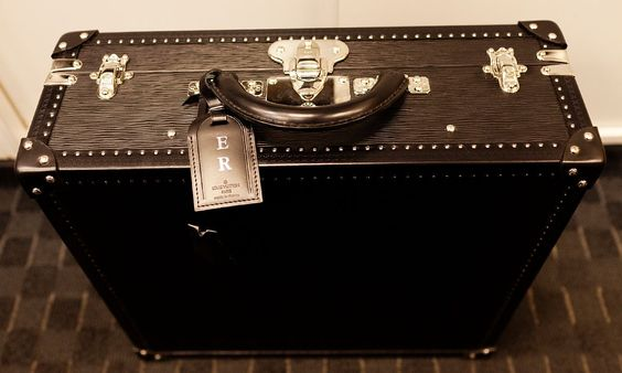 Chef Eric Ripert's knife case ! He rewarded himself or someone gave him the perfect gift. You gotta love a little Louis !