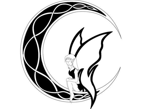 Tribal Celtic Moon & Fairy Tattoo | Tattoo Tabatha ...