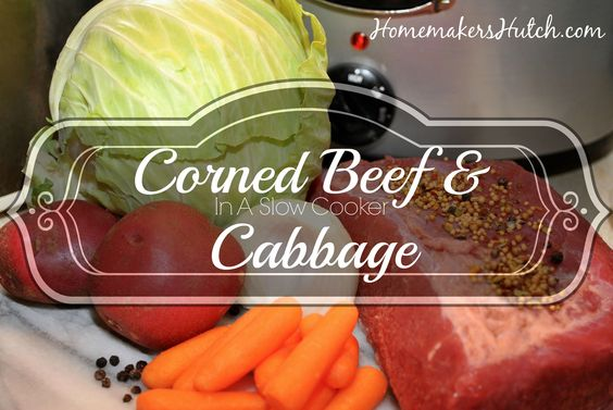 Corned Beef & Cabbage in a Slow Cooker