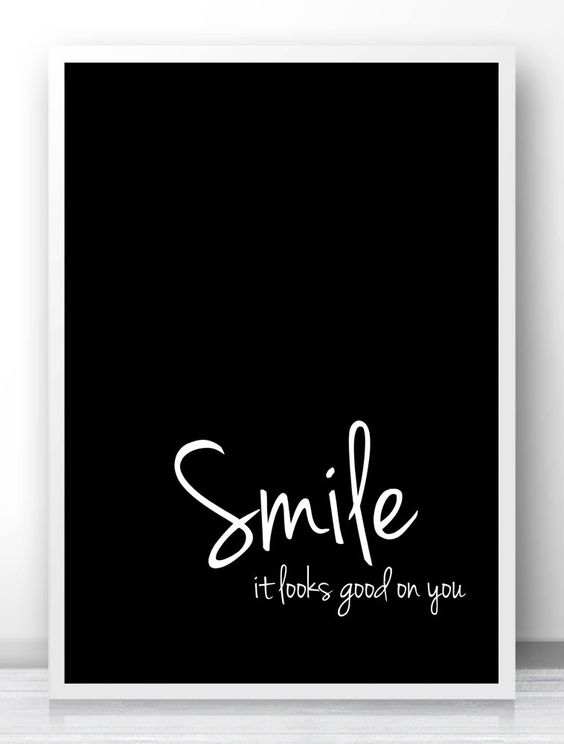 digital download art motivational print quotsmilequot typography