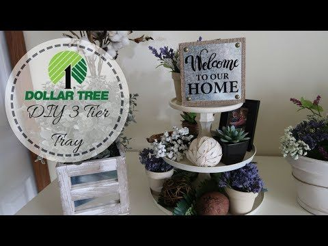 Farmhouse Decor Diy Dollar Tree Diy 3 Tier Tray Decorate With Me Dollar Tree Decor Youtube Diy Farmhouse Decor Dollar Tree Decor Dollar Tree Diy