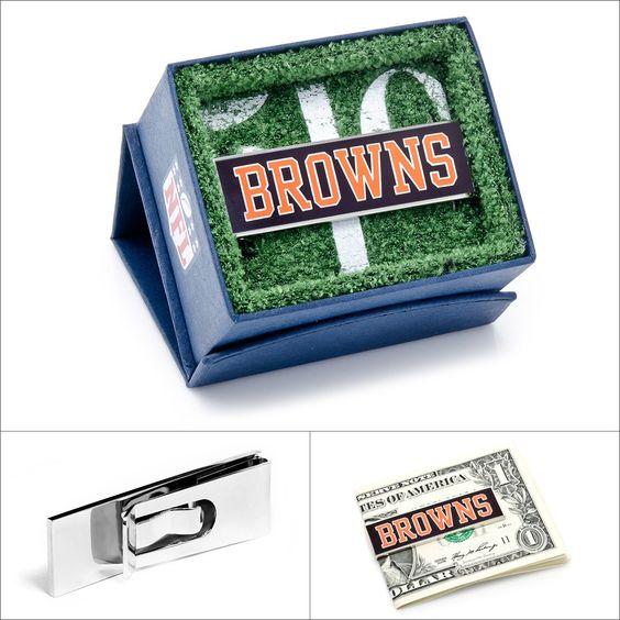$45.00 NFL Cleveland Browns Money Clip  #Walletoutlet #MoneyClip #NFL #ClevelandBrowns www.walletoutlet.com