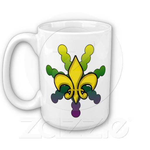 Fleur De Lis Mardi Gras Coffee Mug