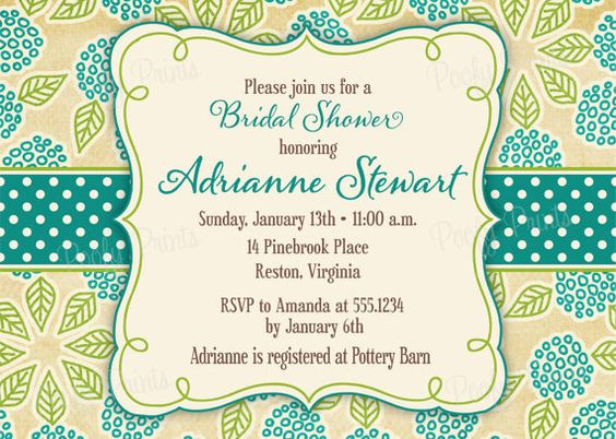 Printable Hydrangea Shower Invitation. Not Giraffe, but looks very Sue