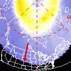 Current Auroral Oval (Northern Lights) Spaceweather.com Time Machine