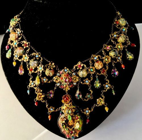 Stunning-MICHAL-NEGRIN-VINTAGE-STYLE-CHOKER-NECKLACE