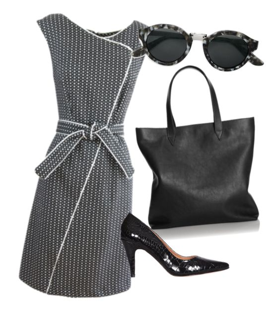 The perfect outfit for work, featuring the gorgeous and flattering Photostat Dress by Sacha Drake. Great work outfit.