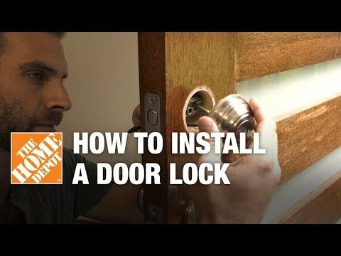Home Depot How To Install An Electronic Door Lock Electronic Door Locks Allow You To Monitor Your Home On The Go Follow Door Locks Doors Door Installation