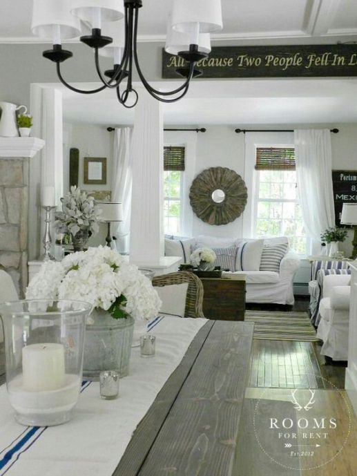 Rustic Farmhouse Living Room Farmhouse Style Decorating Rooms