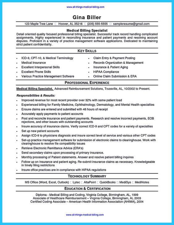 24 cover letter template for medical billing resume samples in ...