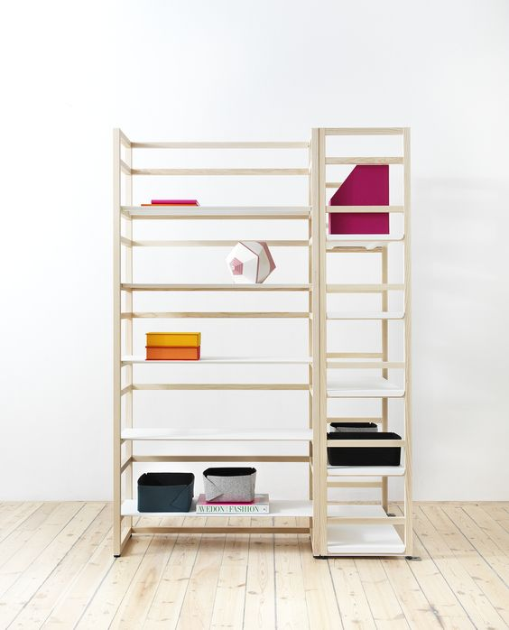 Inspired by Japanese sliding doors, the Tre shelves are made with no visible screws or nails. Designed by Nina Jobs, the Tre shelf units are seamlessly assembled using a combination of wood blocks and thin metal shelving. With an organized simplicity, Tre accommodates the living room as well as your home office, allowing the individual [...]
