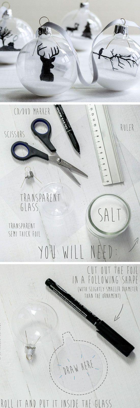 Elegant Transparent Ornaments