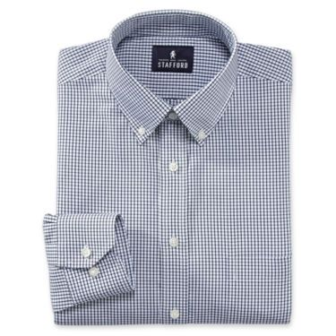 stafford signature oxford dress shirt fitted jcpenney