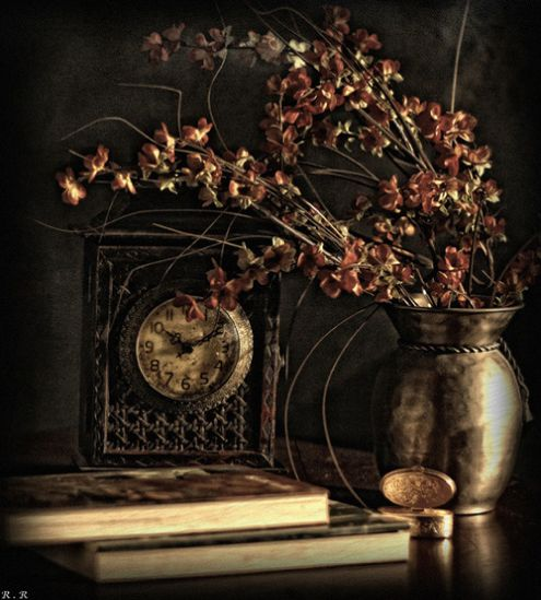 small vintage furniture clock