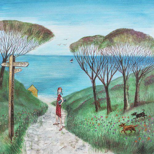 East Urban Home Beach Path By Joe Ramm Print Owl Wall Art
