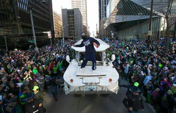 Beast Mode! Best part of the Super Bowl parade. Love me some Marshawn!