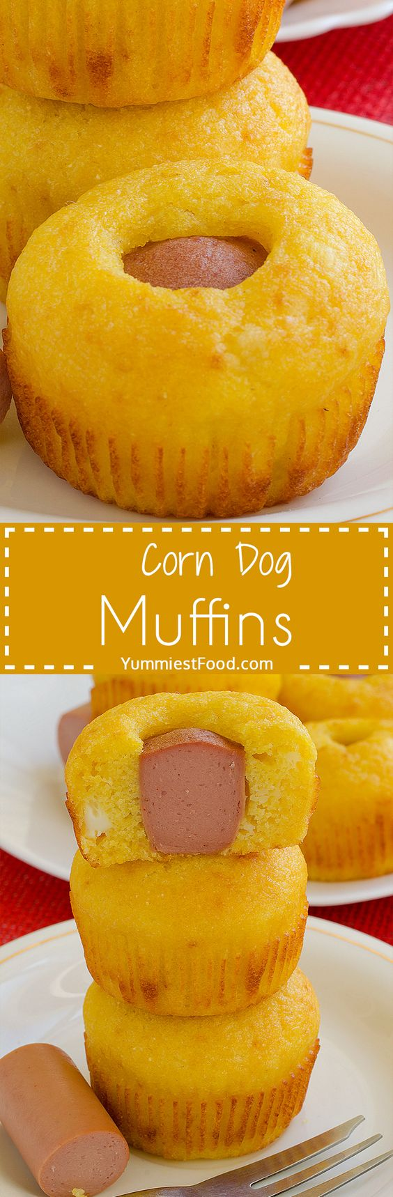 Corn Dog Muffins - very easy and quick to make! You can also add ingredients you like the most and your family will enjoy in this Corn Dog Muffins which is perfect for breakfast!