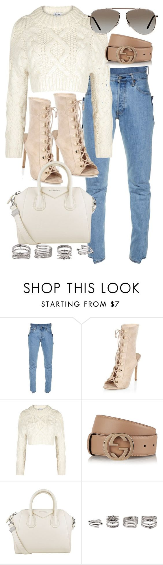 """Untitled #20566"" by florencia95 ❤ liked on Polyvore featuring Vetements, River Island, DKNY, Gucci, Givenchy, Forever 21 and Tom Ford"
