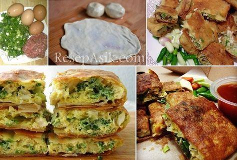 Cara Membuat Martabak Telur Daging Kari Dan Resep Martabak Telur Isi Daging Ala Abang Abang Lengkap Olahan Kulit Resep Masakan Asia Resep Masakan Resep Makanan