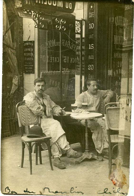 France. Café Bar du Moulin 1 rue Lepic, Paris, 1911 http://www.pinterest.com/micahcornell/forever-ago/
