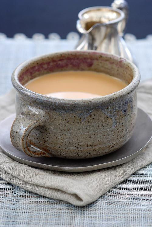Recipe: Authentic Chai        In Devesh and Tara's Spice Pantry kitchen tour, Devesh shared two recipes: one for an Indian breakfast called Poha, or flattened rice, and another for authentic Chai - that strongly spiced, milky tea we love.: