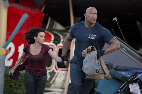 San Andreas -Carla Gugino & Dwayne Johnson