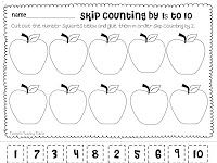 math worksheet : here s a set of four cut and paste skip counting pages includes  : Counting By 10 Worksheets For Kindergarten