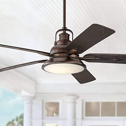 Enjoy Exclusive For 60 Wind Sea Industrial Outdoor Ceiling Fan Light Led Dimmable Remote Control Oil Brushed Bronze Wet Rated Patio Porch Casa Vieja Online Ceiling Fan Outdoor Ceiling Fans