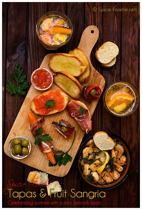 3 tapas recipes: Gambas al Ajillo (Shrimp in Garlic Sauce) | Gildas (Anchovy, Olive and Peppers) | Pan Con Tomate (Toasted Bread with Tomato)