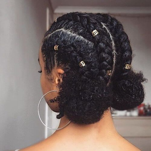 Braids And Buns Protective Hairstyles For Natural Hair Best Blog Ever Www Cap Protective Hairstyles For Natural Hair Natural Hair Styles Natural Hair Woman